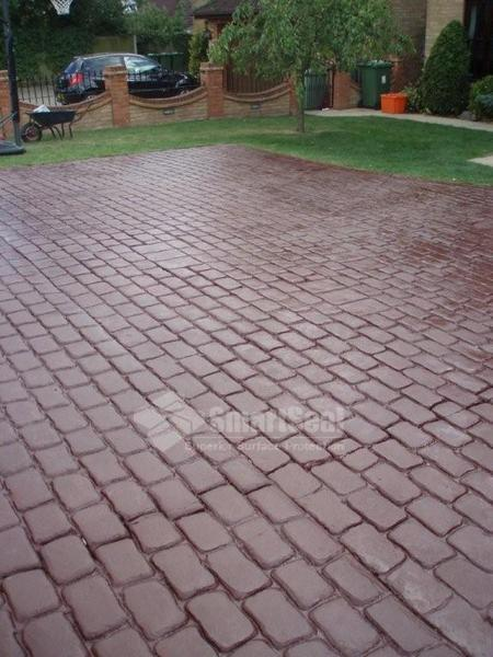 Driveway after recolour and sealing
