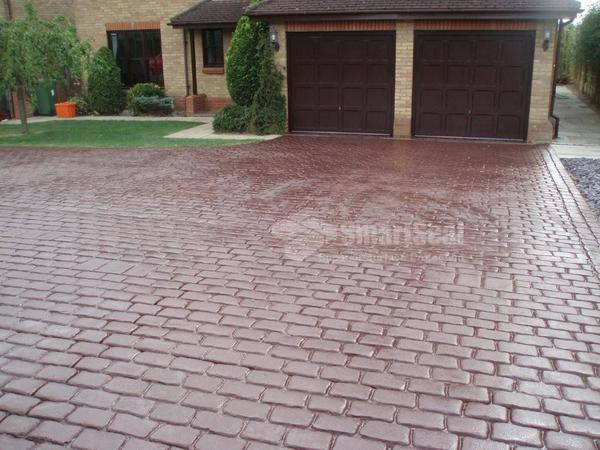 Driveway after restoration